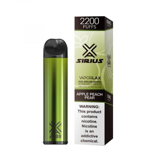 Одноразовая электронная сигарета Vaporlax Sirius 2200 Puffs Disposable 500mAh