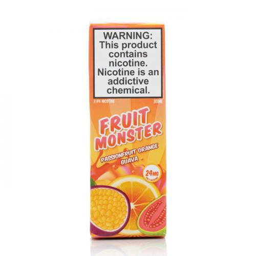Жидкость на солевом Fruit Monster Salt - Passion Fruit Orange Guava 30 мл.