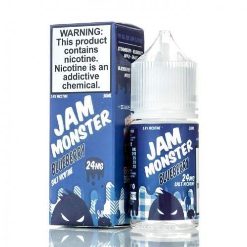 Жидкость на солевом никотине Jam Monster - Blueberry Salt 30 мл.
