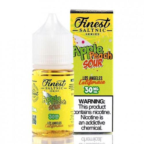 Жидкость на солевом никотине The Finest Salt - Apple Peach Sour 30 мл. 30 мг.