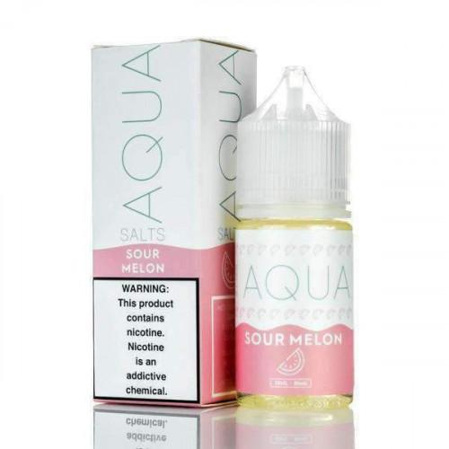 Жидкость на солевом никотине Aqua Salts - Sour Melon 30 мл.