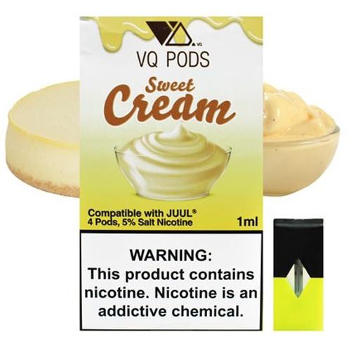 Картридж для JUUL - VQ Pods - Sweet Cream 50 мг. 4 шт.