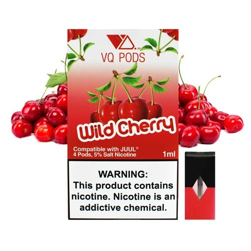 Картридж для JUUL Pods - VQ Pods - Wild Cherry 5% (50 мг.)  4 шт.