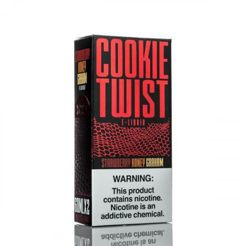 Премиум жидкость Cookie Twist - Strawberry Honey Graham 60 мл.