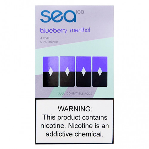 Картриджи Sea100 Pods - Blueberry Menthol 5%
