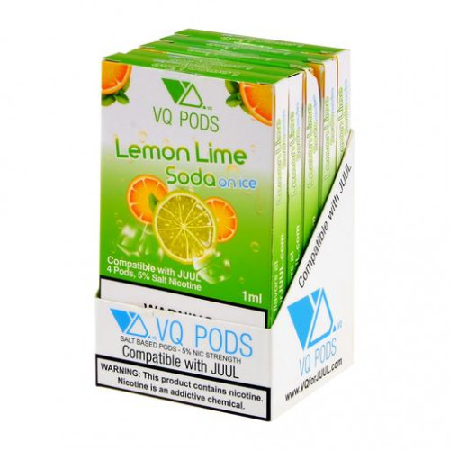 JUUL Pods (картридж) - VQ Pods - Lemon Lime Soda Ice 50 мг.