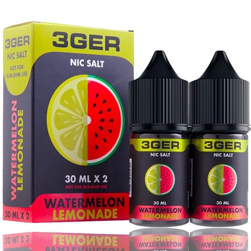 Жидкость на солевом никотине 3GER Salt - Watermelon Lemonade 30 мл.