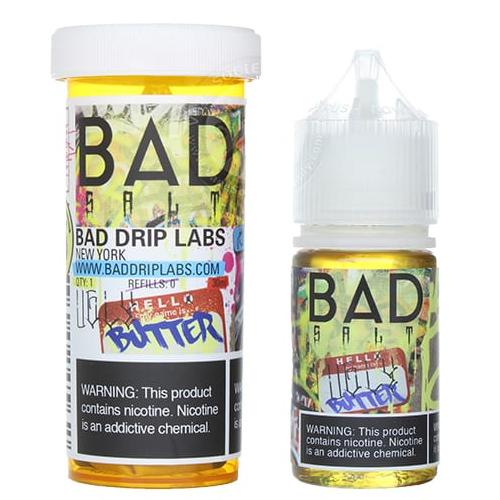 Жидкость на солевом никотине Bad Salt - Ugly Butter by Bad Drip 30 мл.