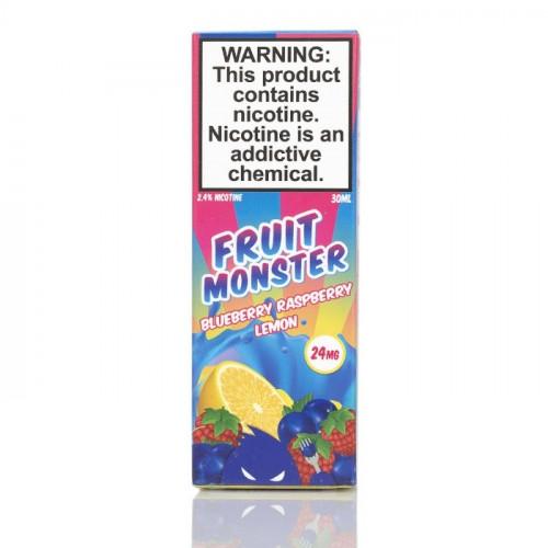 Жидкость на солевом никотине Fruit Monster Salt - Blueberry Raspberry Lemon 30 мл.