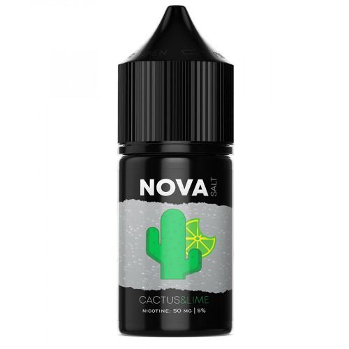 Жидкость на солевом NOVA Salt - CACTUS&LIME 30 мл.