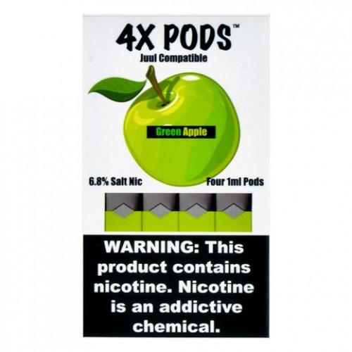 Картриджи для JUUL - 4X Pods - Green Apple 6%