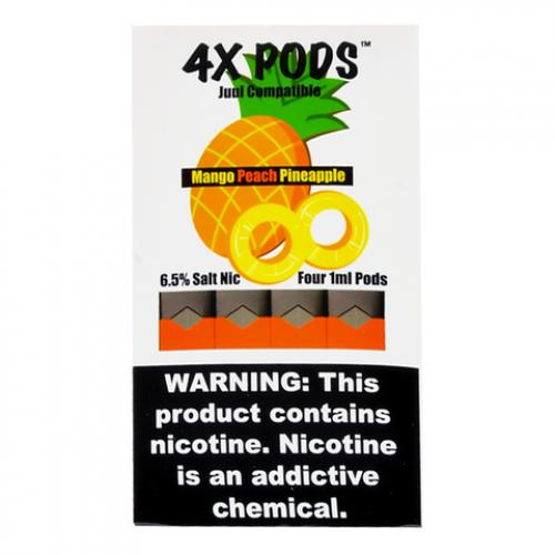 Картриджи 4X Pods - Mango Peach Pineapple 6%