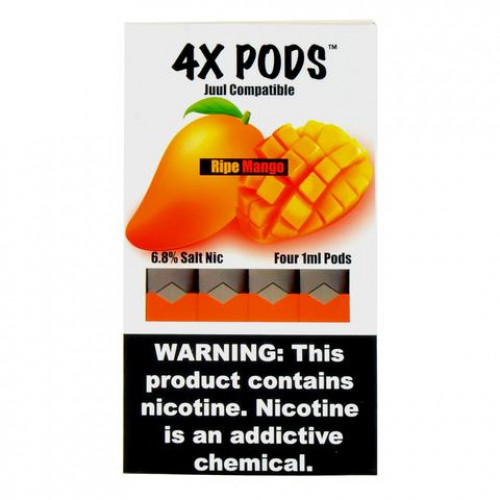 Картриджи 4X Pods - Ripe Mango 6%