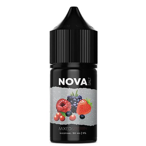Жидкость на солевом никотине NOVA Salt - MIXED&BERRY 30 мл.