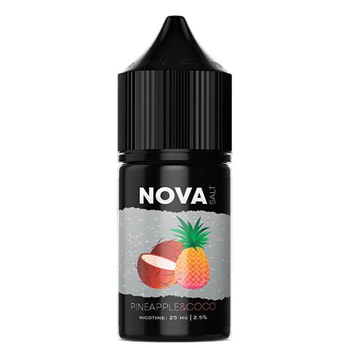 Жидкость на солевом NOVA Salt - PINEAPPLE&COCO 30 мл.