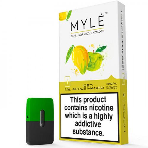 Картриджи Myle Pods - Iced Apple Mango (4 шт.)