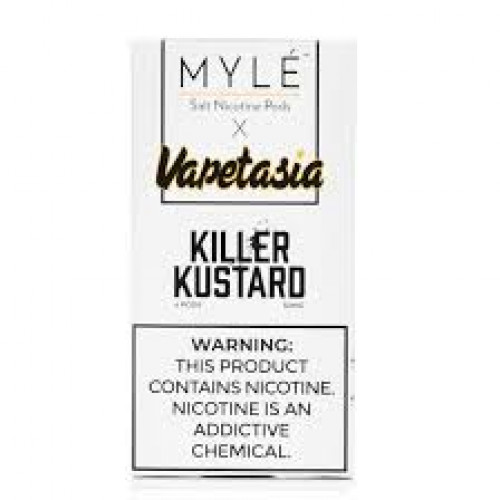 Картриджи Myle Pods V2 - Vapetasia Killer Kustard 5% (4 шт.)