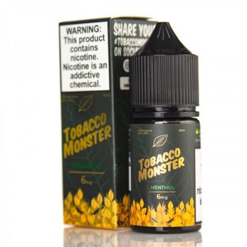 Жидкость на солевом никотине Tobacco Monster Salt - Menthol 30 мл.