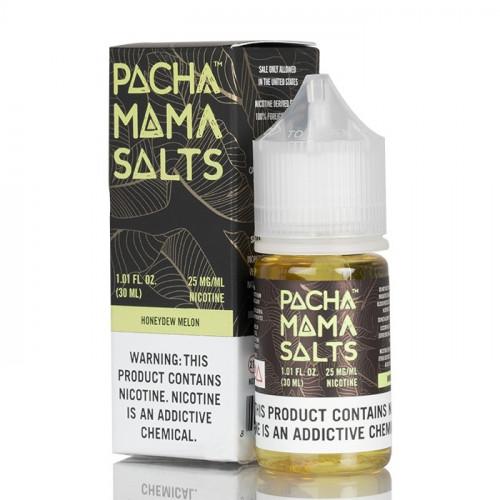 Жидкость на солевом никотине Pachamama Salts - Honeydew Melon 30 мл.