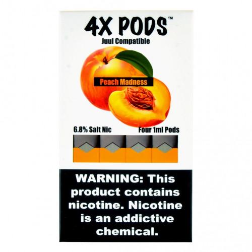 Альтернативные картриджи для JUUL - 4X Pods - Peach Madness 6%