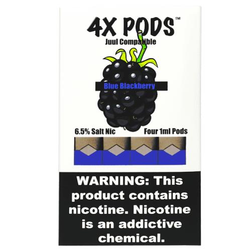 Картриджи для JUUL - 4X Pods - Blue Blackberry 6%