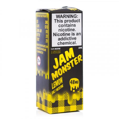 Жидкость на солевом никотине Jam Monster - Lemon Salt 30 мл.