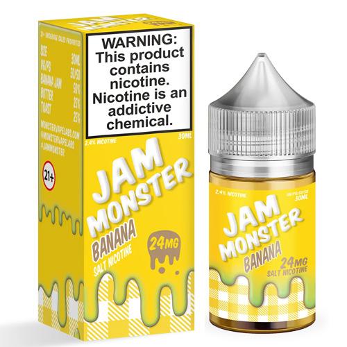 Жидкость на солевом никотине Jam Monster Salt - Banana 30 мл.