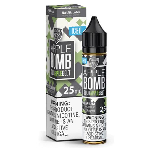 Жидкость на солевом никотине VGOD Salt - Apple Bomb ICED 30 мл.