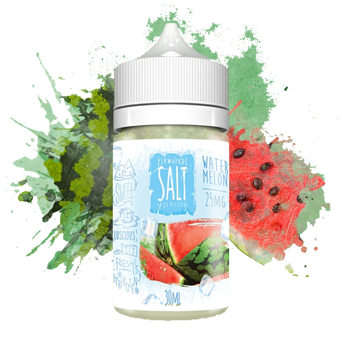 Жидкость на солевом никотине Skwezed Salt - Watermelon ICED 30 мл.