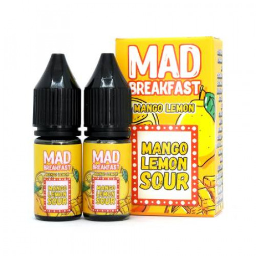 Жидкость на солевом никотине Mad Breakfast Salt - Mango Lemon 20 мл. (2x10 мл)