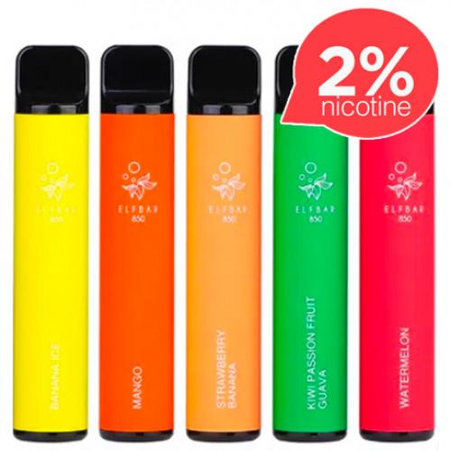 Одноразовая электронная сигарета Elf Bar 1500 Disposable 20 мг. (2%)