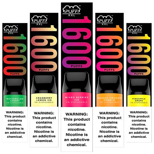 Одноразовая электронная сигарета Puff Bar XXL 1600 Disposable 5%