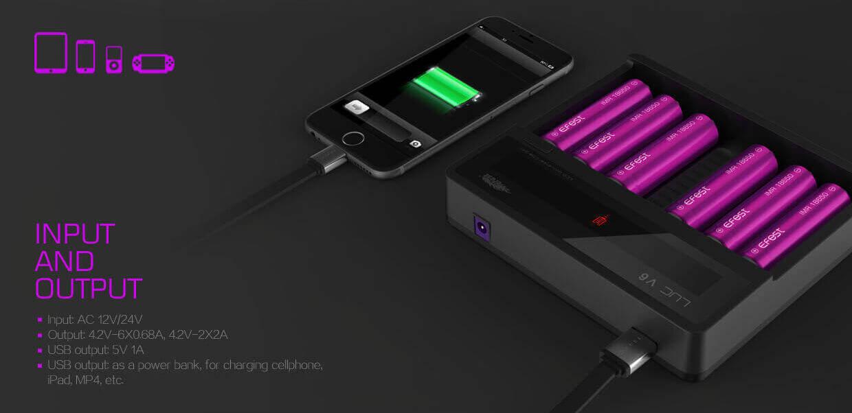 купить зарядное устройство efest luc v6 six bay smart в киеве: лучшая цена и отзывы на комплектующие 20