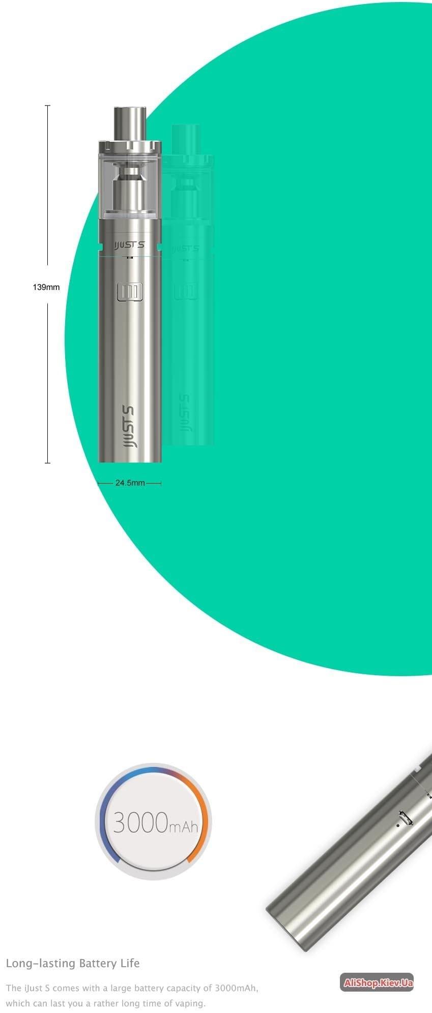 купить eleaf ijust s starter kit в киеве: лучшая цена и отзывы на электронные сигареты 36